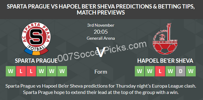 Sparta-Prague-Hapoel-Beer-Sheva-prediction-tips-preview